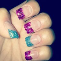 Glitter acrylic nail tips   AWESOME NAILS   Pinterest
