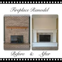Brick fireplace remodel | Home/Crafts | Pinterest