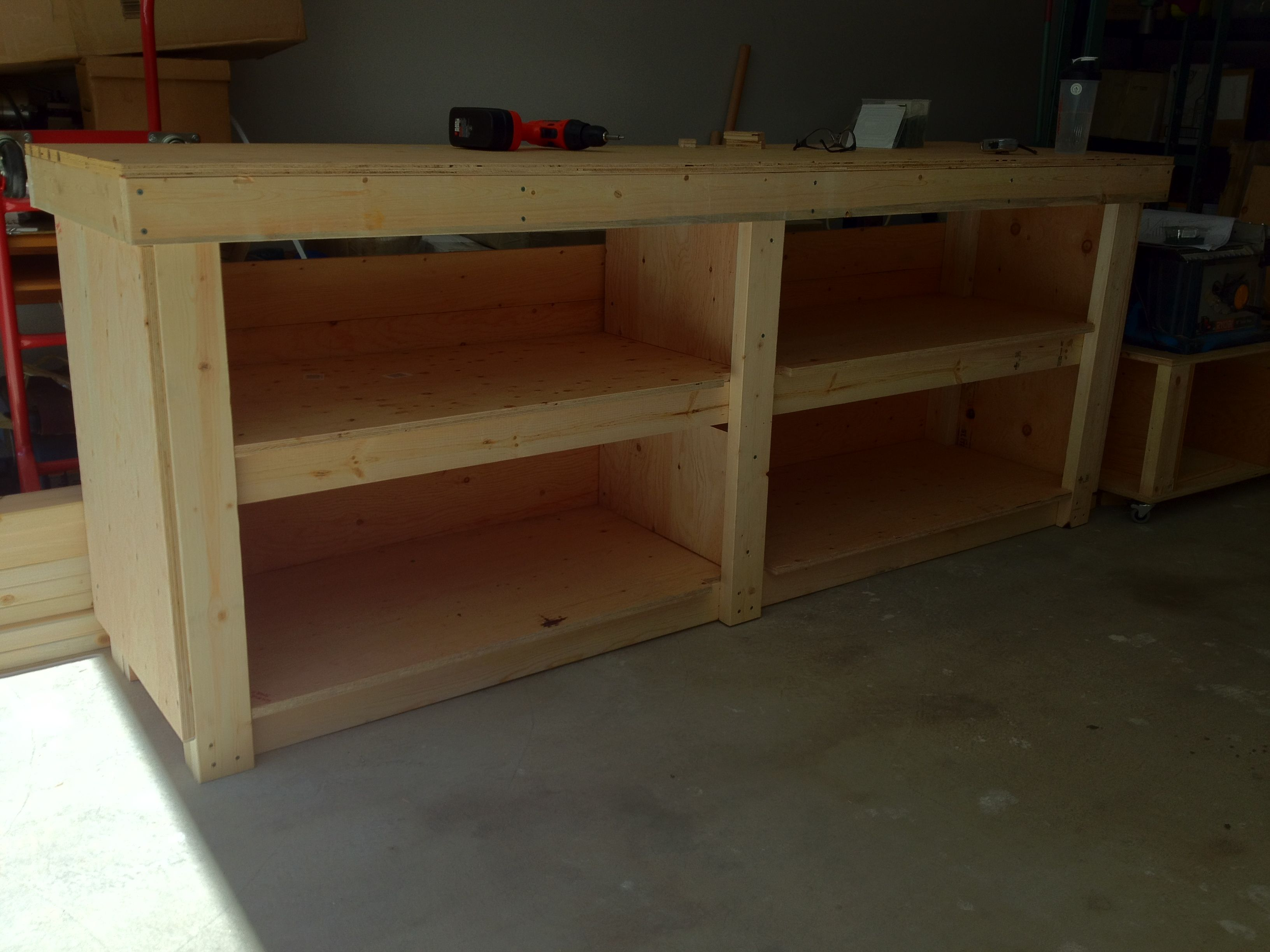 Garage Workbench And Storage Garage Work Bench Part A Storage And Workshop Ideas