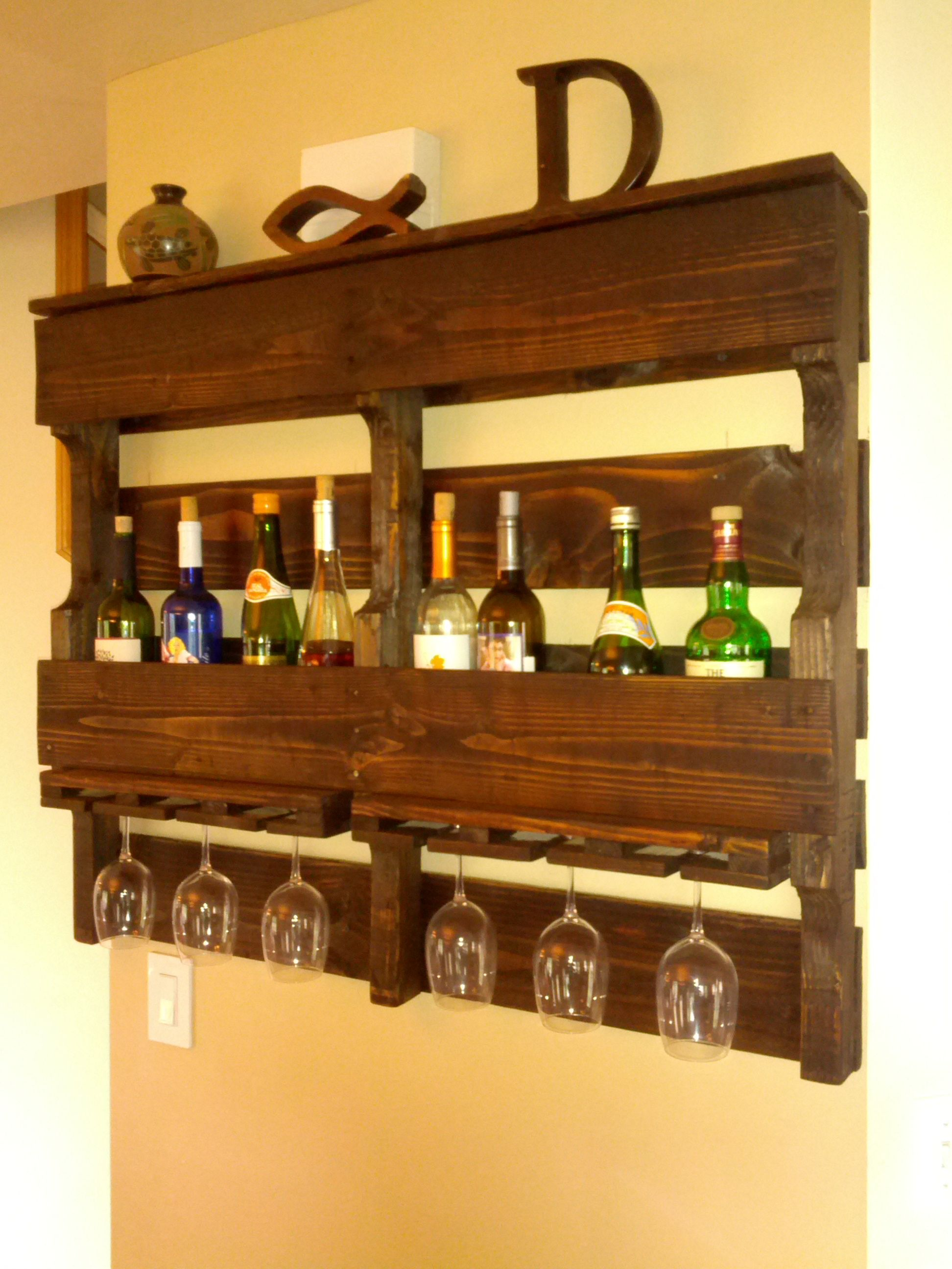Diy Wine Storage Rack Pallet Wine Rack Diy Pinterest