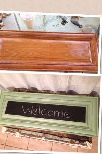 Old cabinet door , new chalkboard !! | Craft Ideas | Pinterest