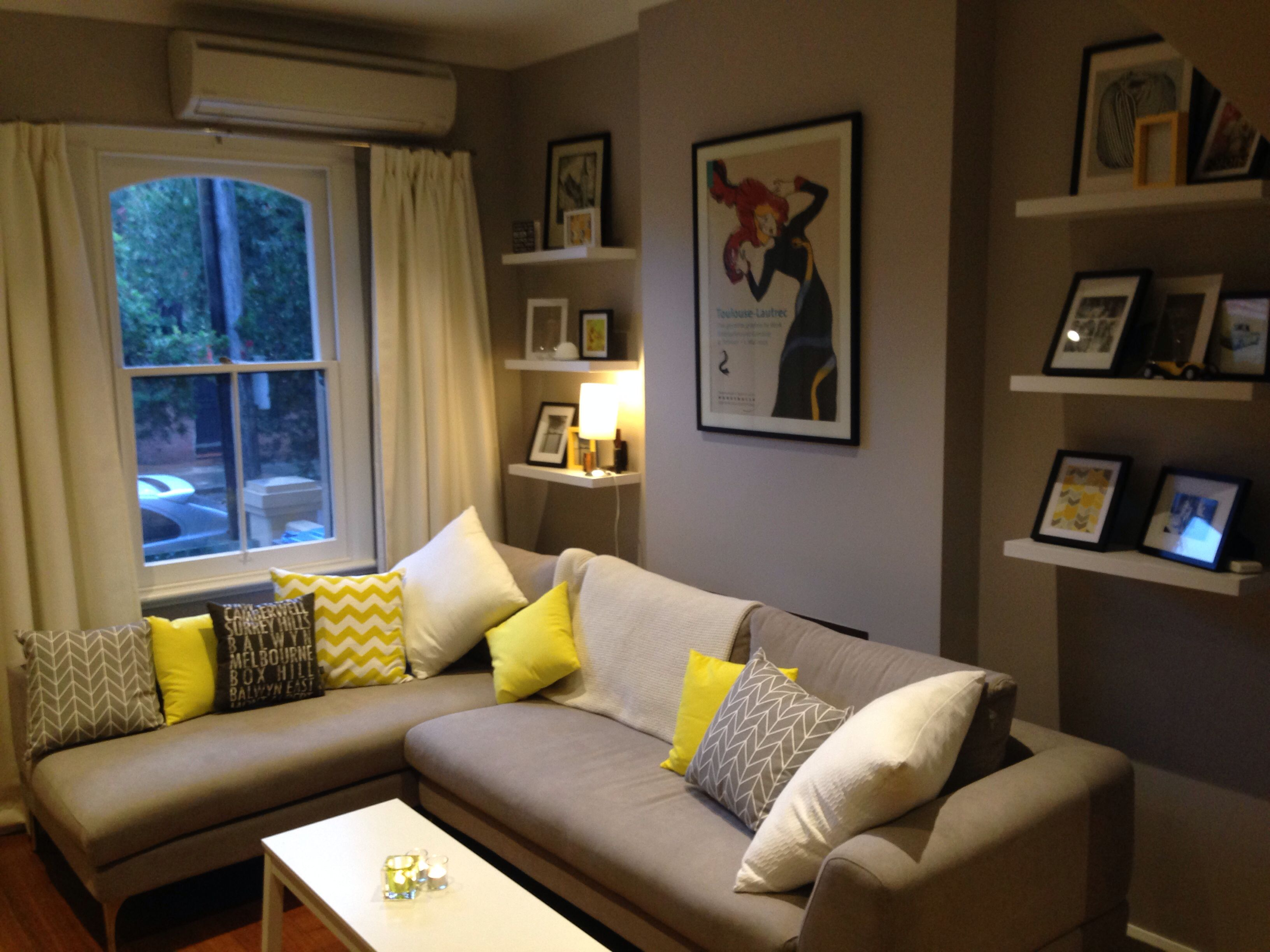 Yellow And Gray Living Room Grey And Yellow Living Room City Living Pinterest