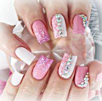 Girly acrylic nails | Nails | Pinterest