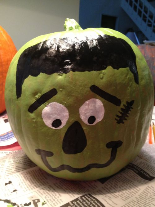 Frankenstein Painted Pumpkin Halloween Craft Ideas Youtube