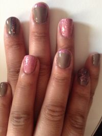 Gray and pink nail designs  | nails