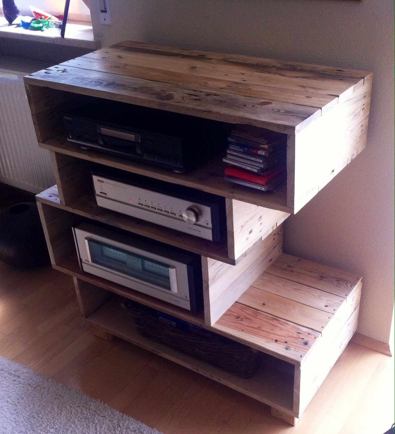 Shelves Made From Wooden Pallets