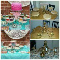DIY!!! chandelier cupcake holder !!! | Kids Birthday Party ...