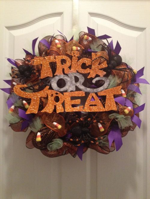 Deco Mesh Wreath Ideas Halloween Craft Ideas Pinterest