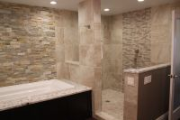 Open shower stall   Ideas For My New Home   Pinterest