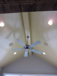 white tongue and groove ceiling | For the Home | Pinterest