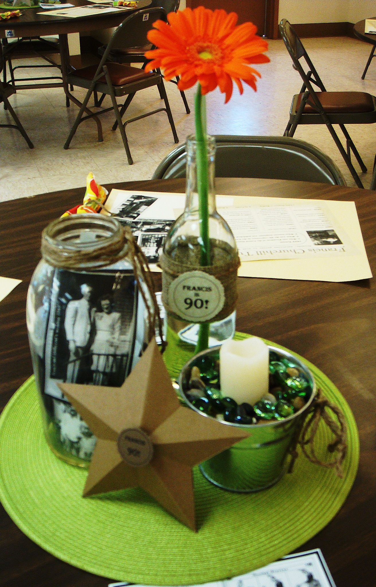 Table Decor And More Table Decs For 90th Birthday Party Party Ideas Pinterest