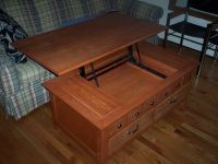 Lift up coffee table | 80th Street Apartment | Pinterest
