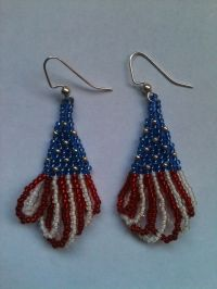Beaded 4th of July earrings | Jewelry Craft Ideas | Pinterest