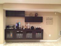 Coffee bar using IKEA Besta cabinets. | Bar Home | Pinterest