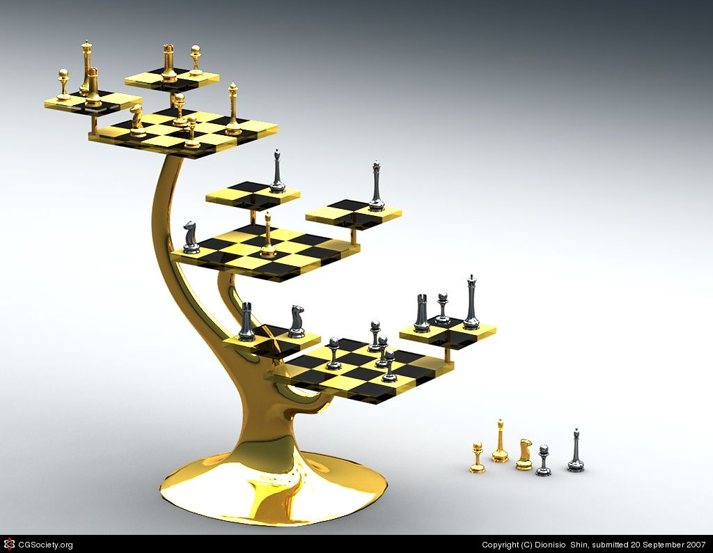 Unique Chess Sets Tri Level Chess Set Unusual Chess Boards Pinterest