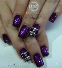 Purple nail design | NAIL DESIGNS | Pinterest