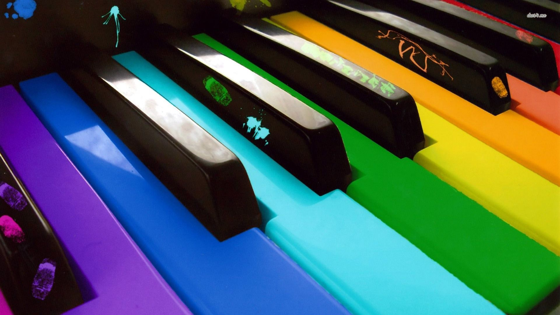 Cool Keys Keyboard Rainbow Piano Keys Cool Pictures Wallpapers Pinterest