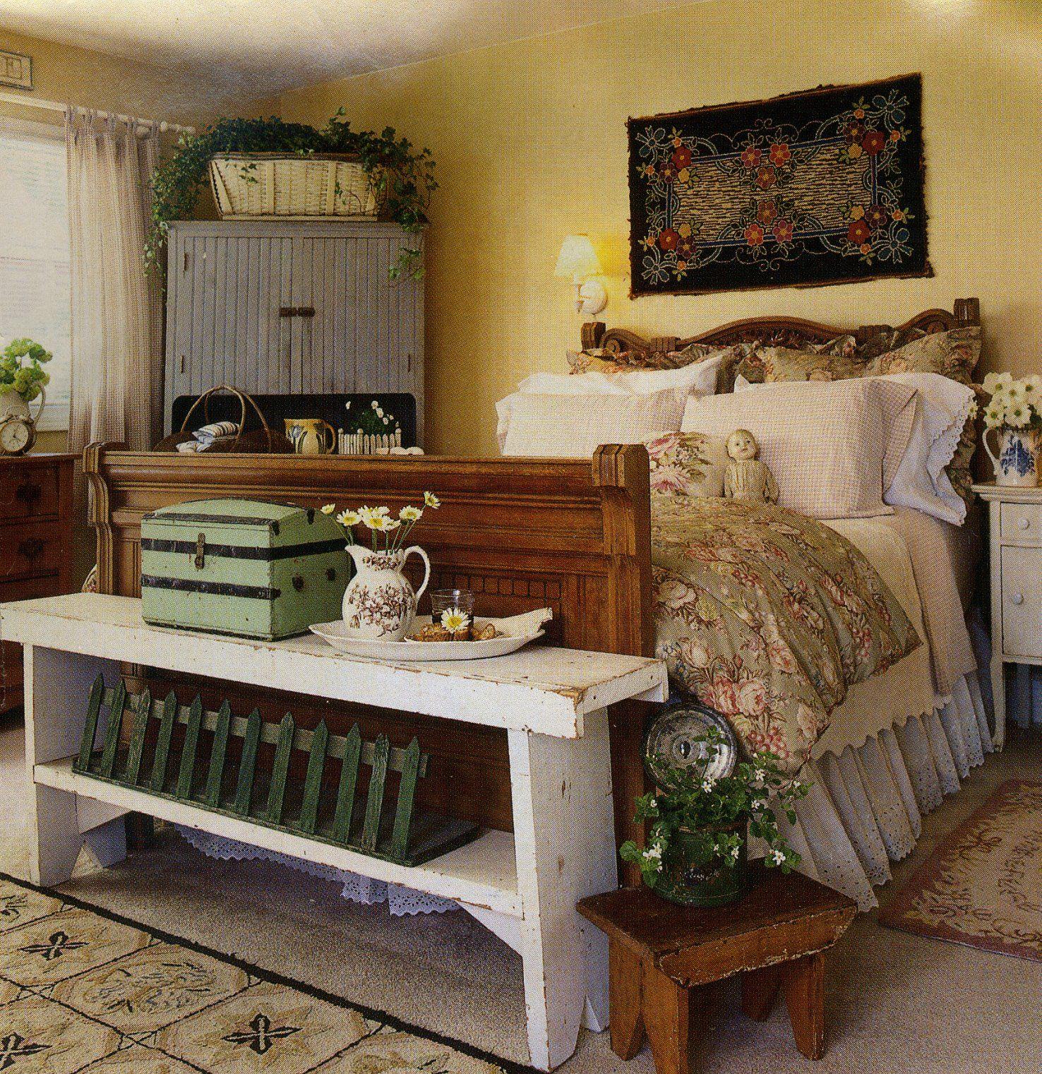 Country bedroom primitives pinterest
