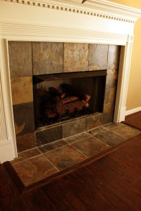 Ceramic Tile Fireplace Surround | Home Decor Ideas | Pinterest