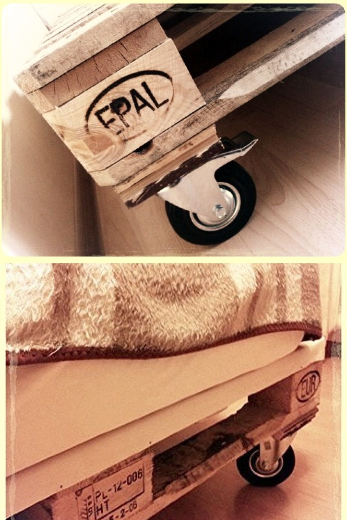 DIY Pallet Bed With Storage