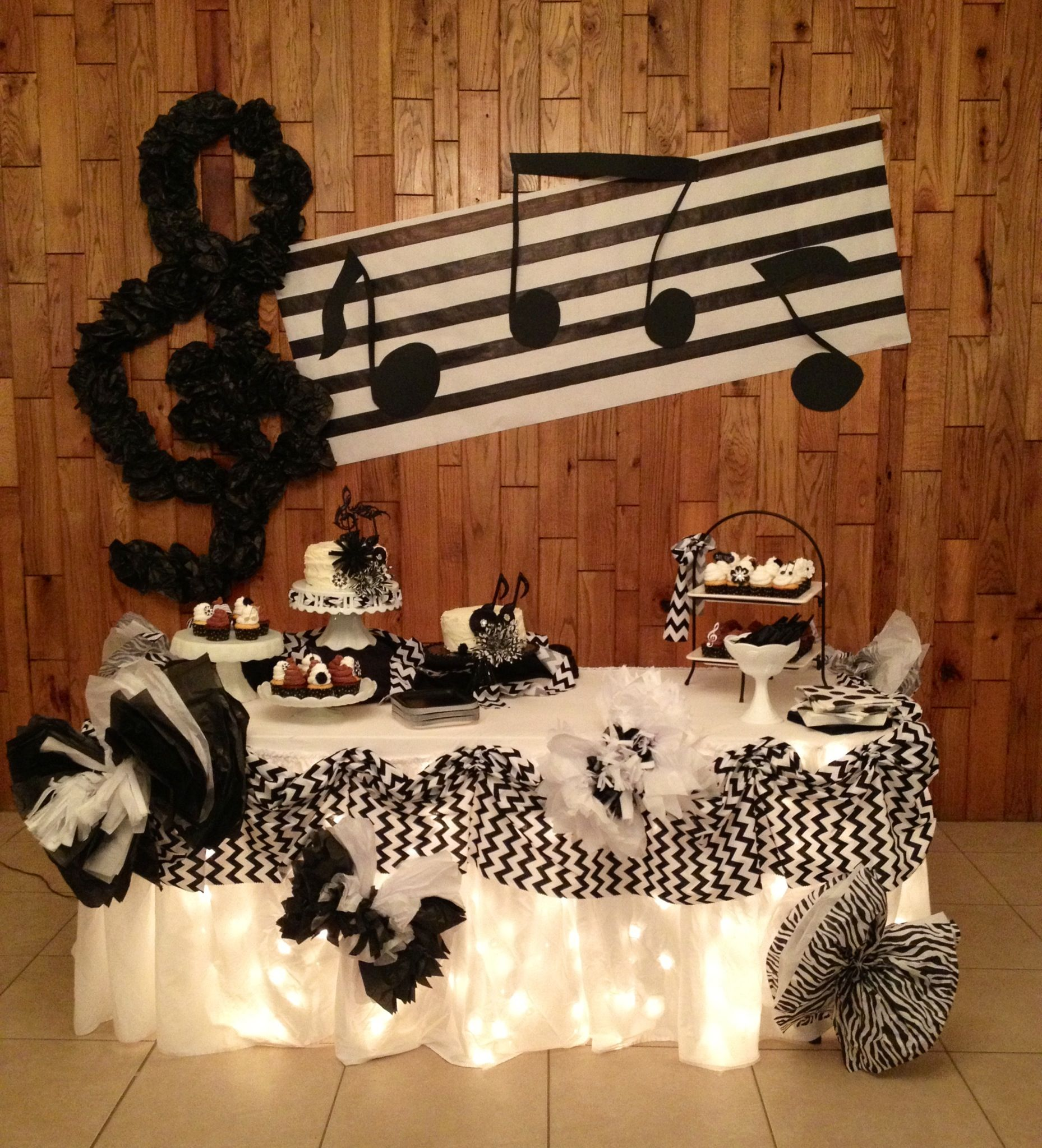 Music Themed Decor Music Themed Party Pop Star Birthday Party Pinterest