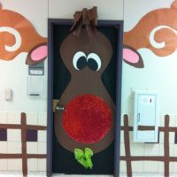 reindeer door decoration | just b.CAUSE