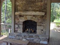 stacked stone fireplace | For the Home | Pinterest