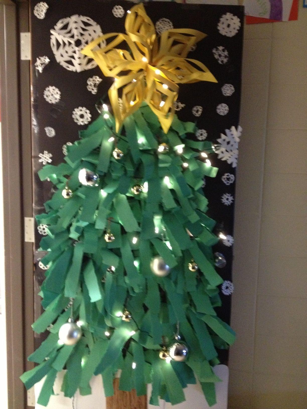 Christmas tree classroom door decorations photo 9
