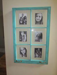 Old window sash picture frame | decorating | Pinterest