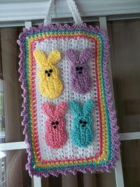 Easter Peeps door decoration--crochet | Easter | Pinterest