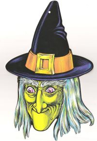 Vintage witch Halloween decoration | Vintage Halloween ...