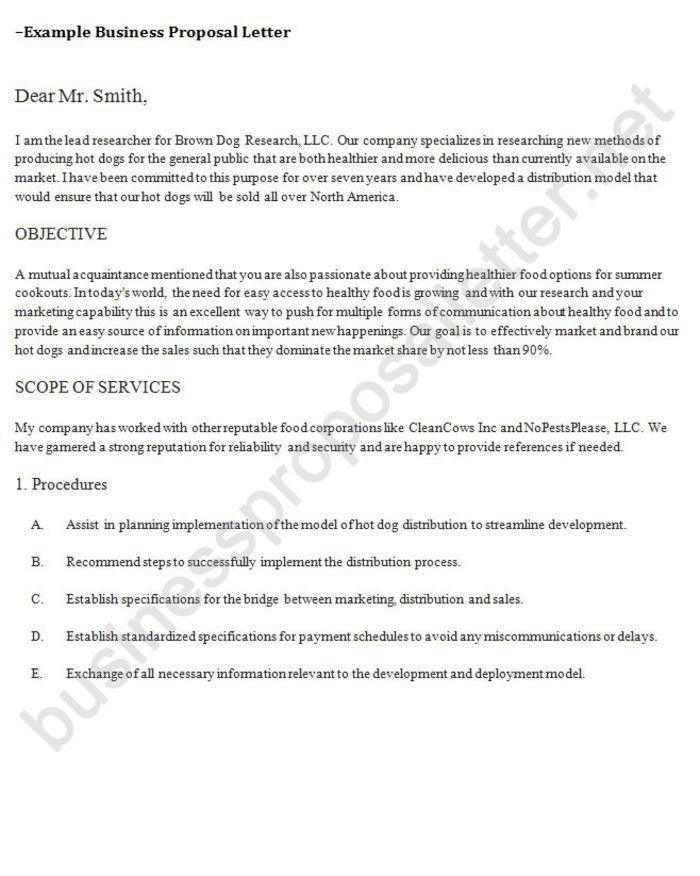 collaboration proposal letter sample - business proposal letter sample