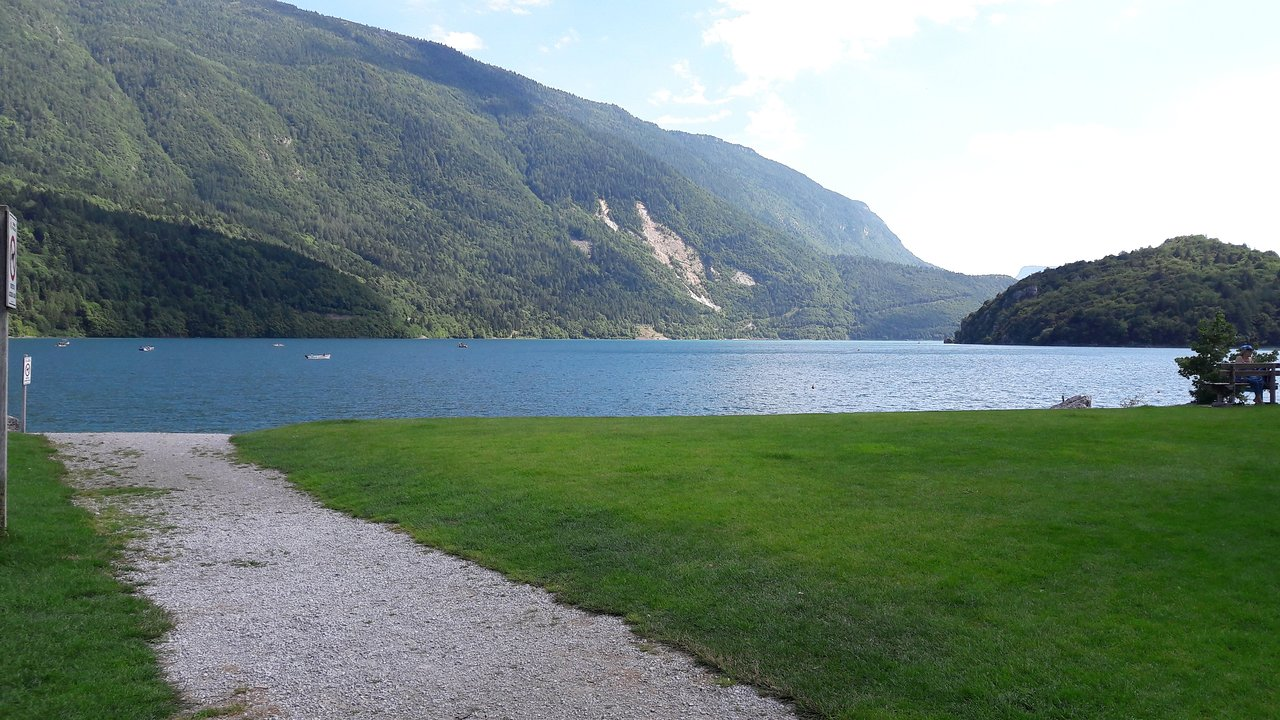 Molveno Camping Camping Beach Lake Of Molveno Prices Campground Reviews Italy
