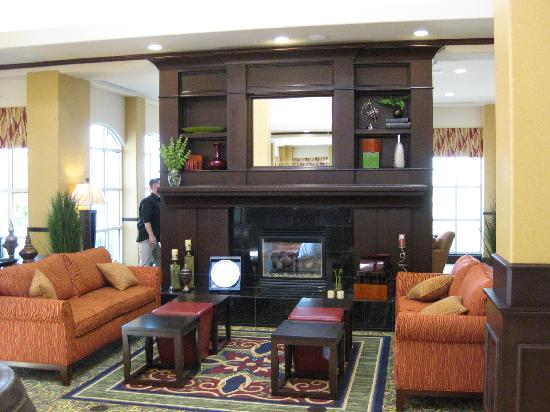 fireplace in lobby picture of hilton garden inn fontana fontana tripadvisor - Hilton Garden Inn Fontana