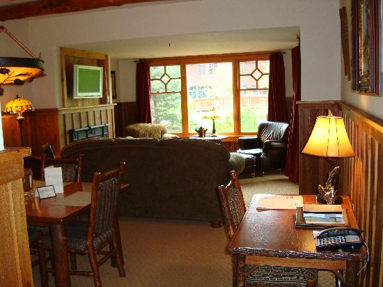 Living Room with Desk - Picture of The Whiteface Lodge, Lake - desk in living room