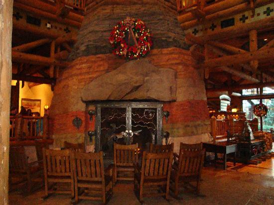 The Fireplace In The Lobby Picture Of Boulder Ridge