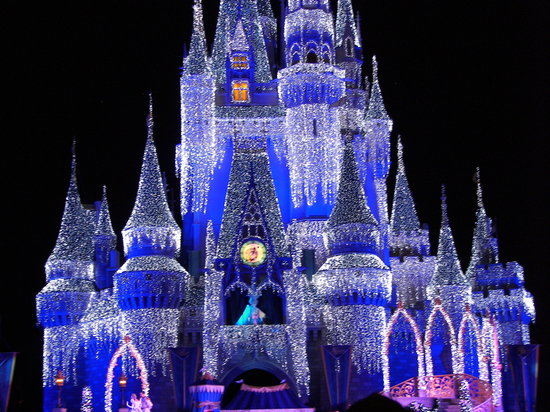 Cute Background Wallpaper For Computer Christmas Lights Animal Hd The Castle Lit Up At Night Picture Of Walt Disney World