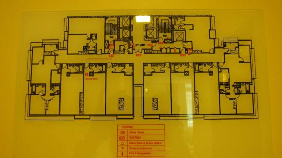 fire evacuation plan - Picture of PARKROYAL Serviced Suites Kuala
