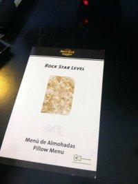 Pillow Menu - Picture of Hard Rock Hotel & Casino Punta ...