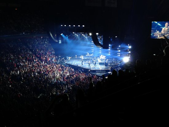 View from our seats at Mohegan Sun Arena Sec 108 Row G - Picture of