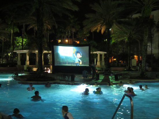Movies At The Pool Picture Of Marriott39s Grande Vista