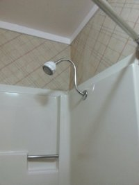 Raised shower head! - Picture of Americas Best Value ...