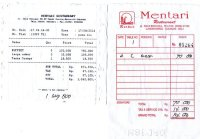 Our invoice for lunch - Picture of Mentari restaurant ...