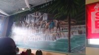 awesome wall painting of Dunn's River Falls' Jamaica ...