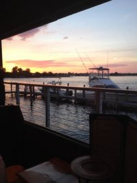 Sunset from the Patio Bar, Point Pleasant, NJ - Picture of ...