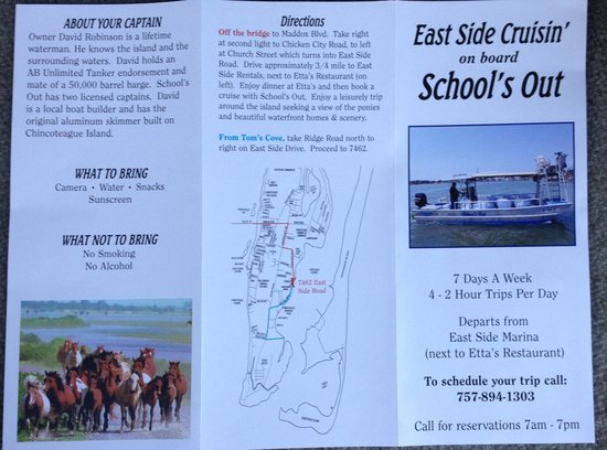 Second page of the brochure - Picture of East Side Cruisin