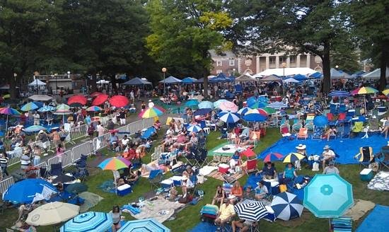 the lawn at SPAC - Picture of Saratoga Performing Arts Center
