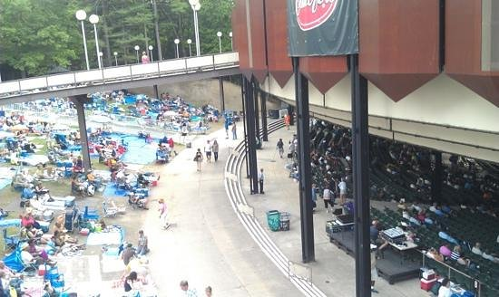 Overhead view of SPAC - Picture of Saratoga Performing Arts Center
