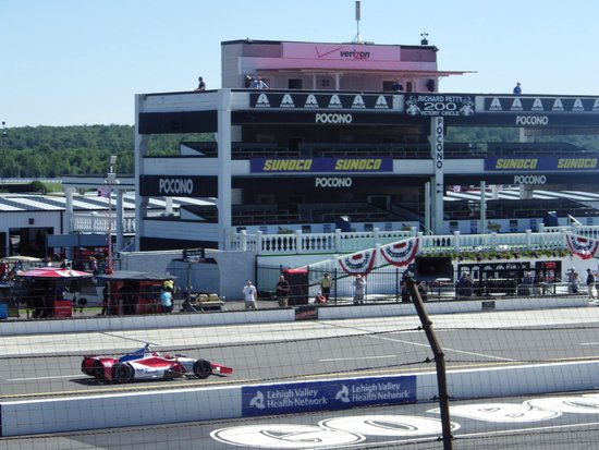 View of building across from seats - Picture of Pocono Raceway, Long