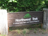 Front entrance sign - Picture of Northwest Trek Wildlife ...
